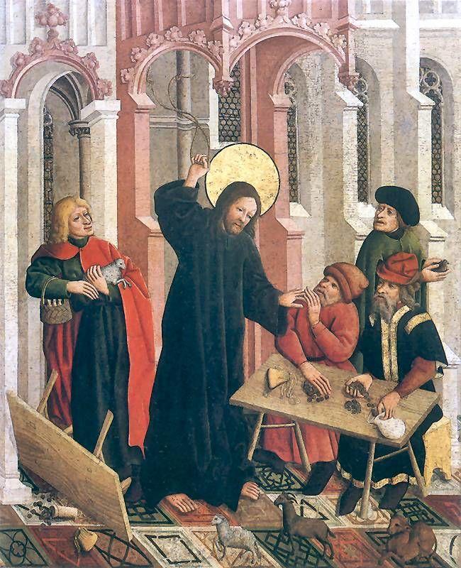 Pintura del siglo XV: limpieza del templo